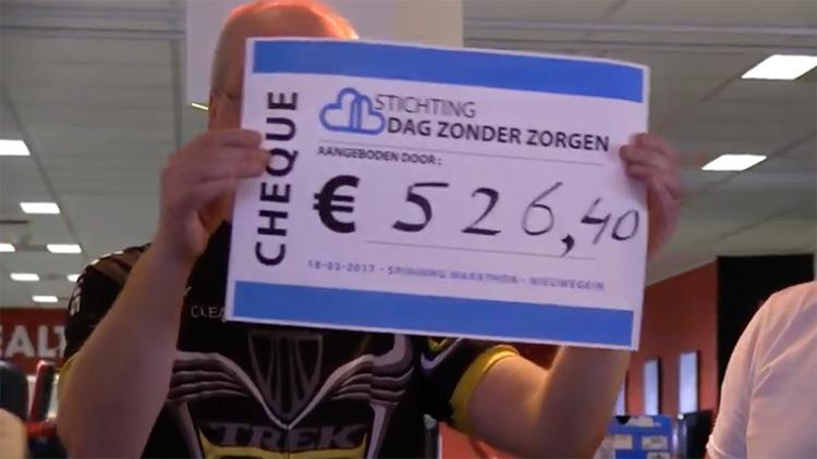 Spinningmarathon Dag Zonder Zorgen op De Digitale Stad Nieuwegein
