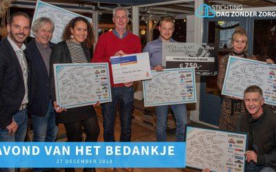 Stichting 'Dag Zonder Zorgen' bedankt haar sponsors